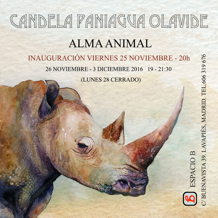 "NEXT SOLO EXHIBITION IN MADRID ""ALMA ANIMAL"""