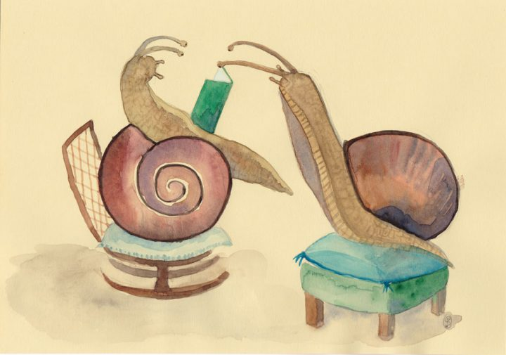 """Snail see, snail do"". 2018"