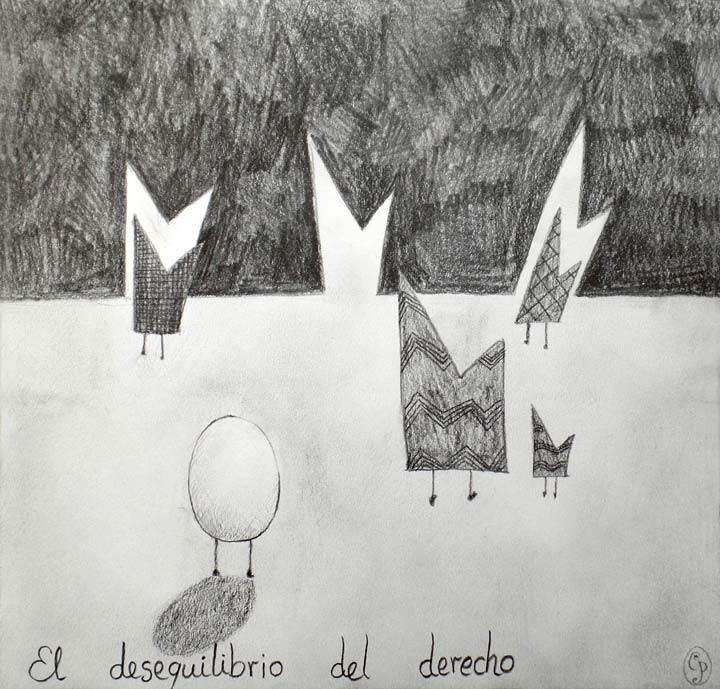 El desequilibrio del Derecho / The imbalance of right 21x21