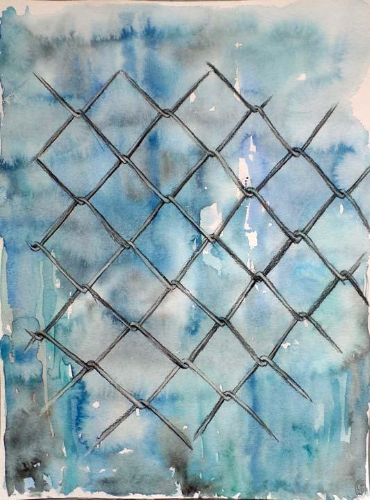 Valla de alambre / Wire fence 30x40cm