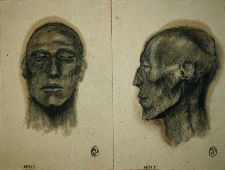 Boceto Momia Seti I / Sketch Mummy Seti I