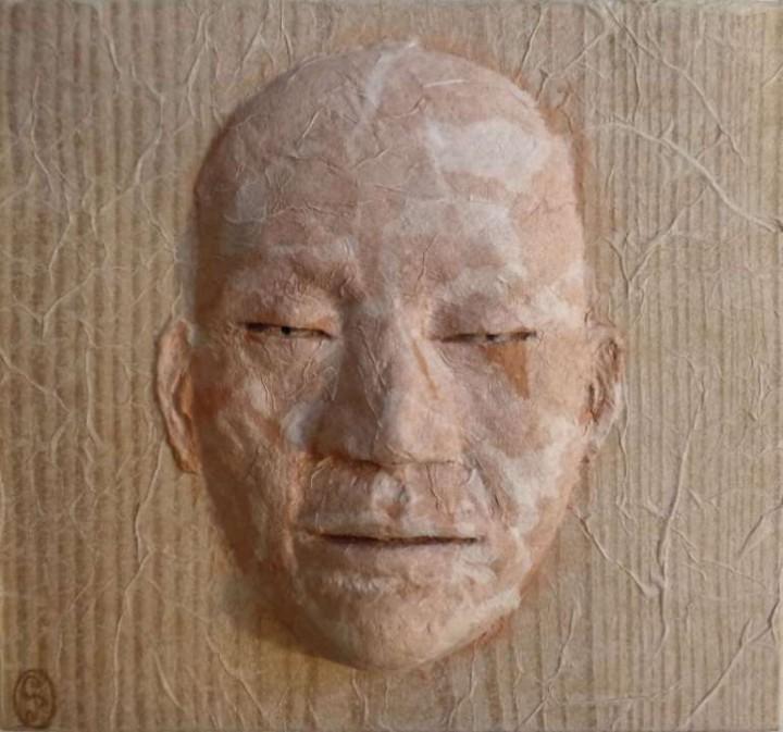 Máscara de papel / Paper Mask - 12x11cm